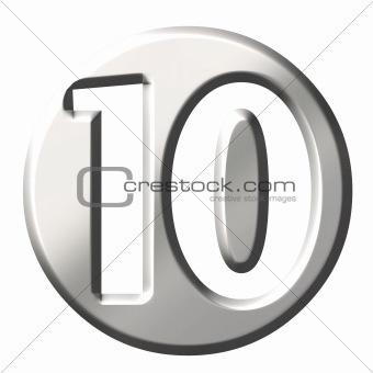 3D Steel Number 10