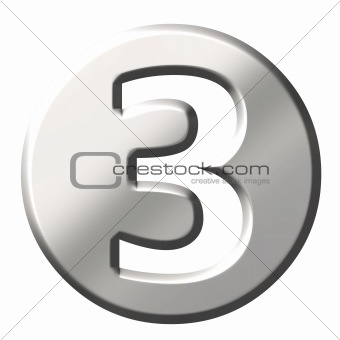 3D Steel Number 3