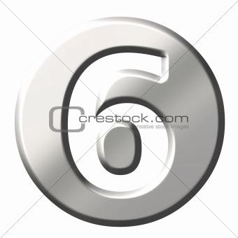 3D Steel Number 6