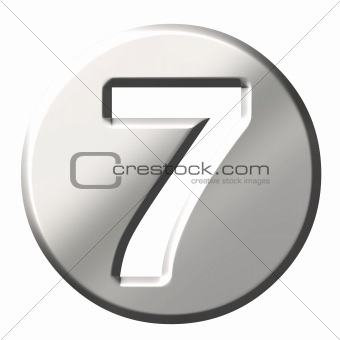 3D Steel Number 7
