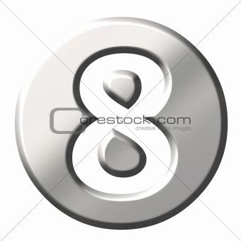 3D Steel Number 8