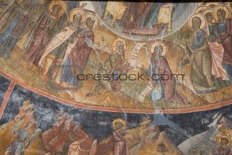 Fresco wall detail