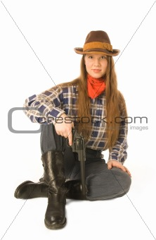 Sitting cowgirl 2