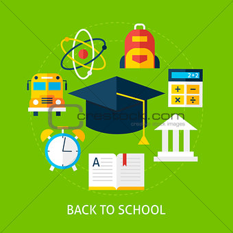 Back to School Flat Concept