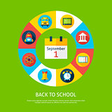 Back to School Flat Infographic Concept