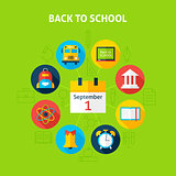Back to School Infographic Concept