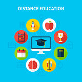 Distance Education Infographic Concept