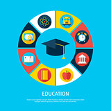 Education Flat Infographic Concept