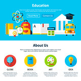 Education Flat Web Design Template