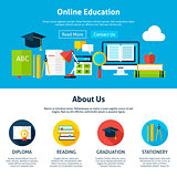 Online Education Flat Web Design Template