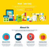 Web Tutorials Flat Web Design Template