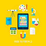 Web Tutorials Service Flat Concept