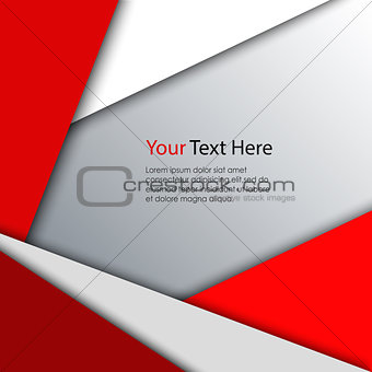 Abstract red white triangles background