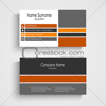 Business card with colored design stripes template