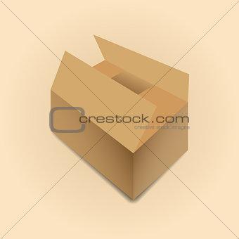 Cardboard box vector illustration.