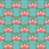 Stylized Lotus Background