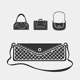 Vector Set female bags