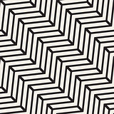 Vector Seamless Black And White Chevron Line Geometric Pattern
