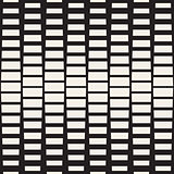Vector Seamless Black And White Rectangle Halftone Geometric Pattern