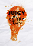 Poster crispy chicken