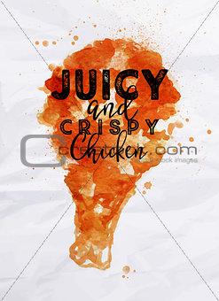 Poster crispy chicken