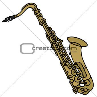 Classic brass saxophone
