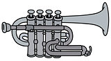 Classic concert trumpet