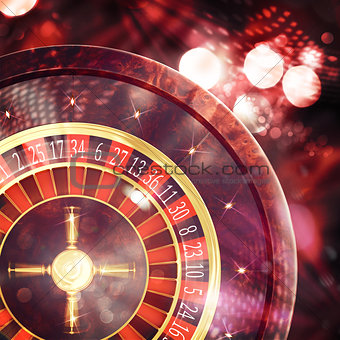 3D Rendering of casino roulette