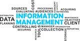 word cloud - information management
