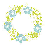 Floral wheath, circle frame for your design