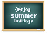 blackboard enjoy summer holidays