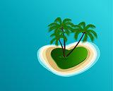 Vector Summer Island