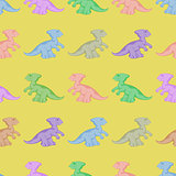 Colored dinosaurs. Seamless background