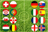 Euro country flags