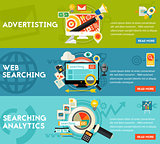 Searching Analytics Advertising Concept