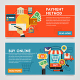 Buy Online And Payment Methods Concept