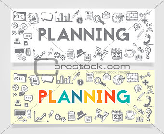 Business Planning Doodle Concept