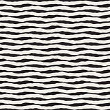 Vector Seamless Hand Drawn Horizontal Wavy Lines Pattern