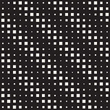 Vector Seamless Black And White Diagonal Halftone Square Lines Pattern