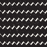 Vector Seamless Hand Drawn ZigZag Lines Grungy Pattern