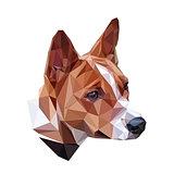 Basenji polygonal portrait