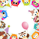 Cute Owls Party Background