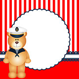 Sailor teddy bear background