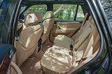 Modern car interior. Rear seats.
