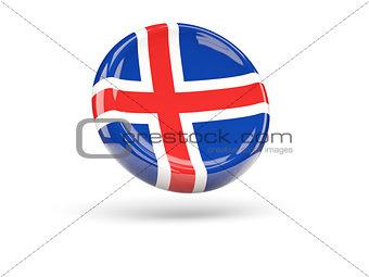 Flag of iceland. Round icon