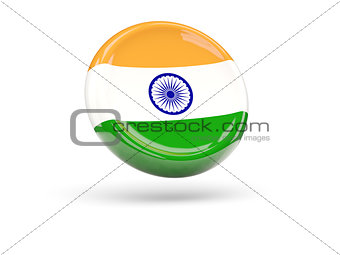 Flag of india. Round icon