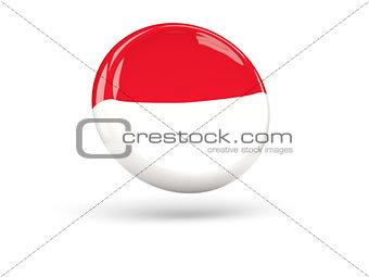 Flag of indonesia. Round icon