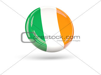 Flag of ireland. Round icon
