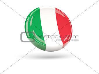 Flag of italy. Round icon