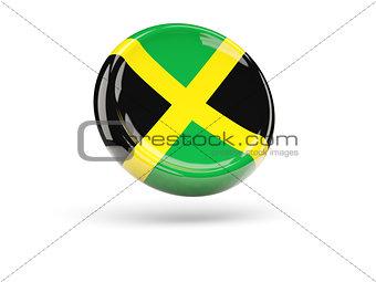 Flag of jamaica. Round icon